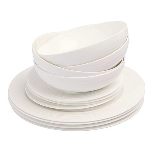 ... Alex Liddy 12 Piece Bianco Anello Dinner Set ...  sc 1 st  Easy Weddings & Alex Liddy 12 Piece Bianco Anello Dinner Set Wedding Gift Registry ...