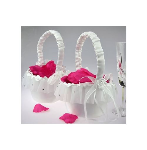 Chiffon Flower Girl Basket
