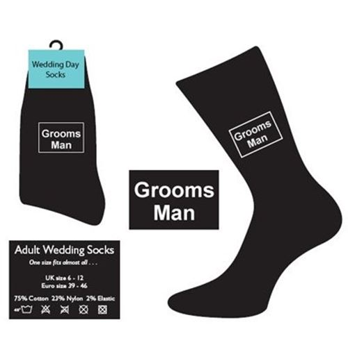 Groomsman wedding socks