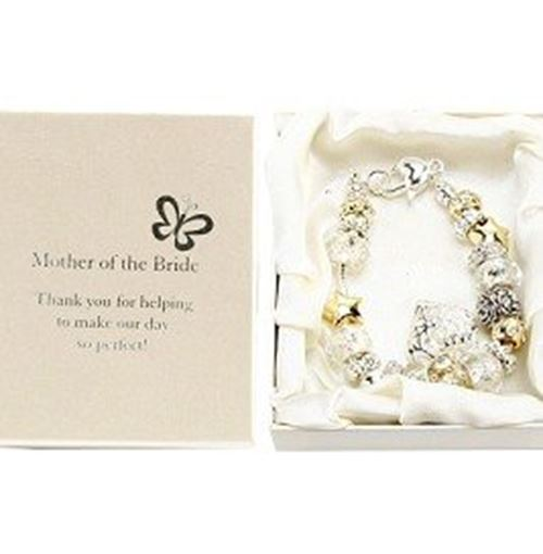 Amore Silver/Gold Bead Charm Bracelet - Mother of the Bride
