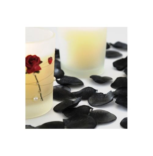 BLACK Silk Rose Petals Wedding Favors - 500 pack