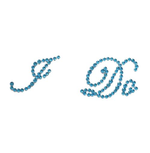 I Do Blue Crystal Wedding Shoe Sticker