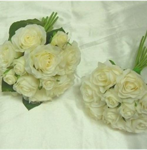 Bridal bouquet set 3 bouquets mixed white