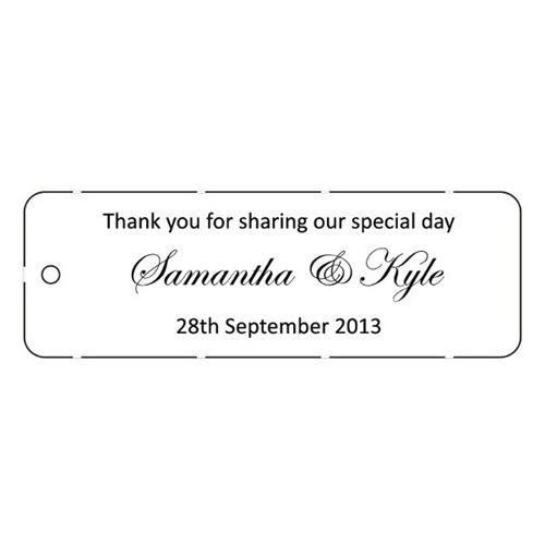 Wedding Favor Tags Australia : Wedding Favor tags - Buy wedding favor tags online - Easy Weddings ...