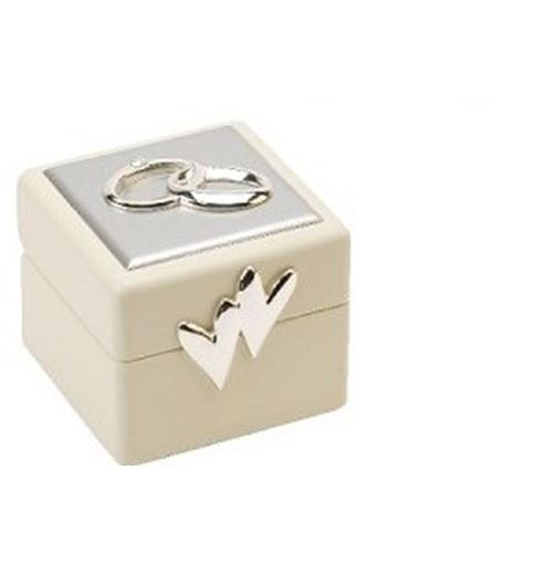Amore Wedding Ring Box with Icons & Crystals