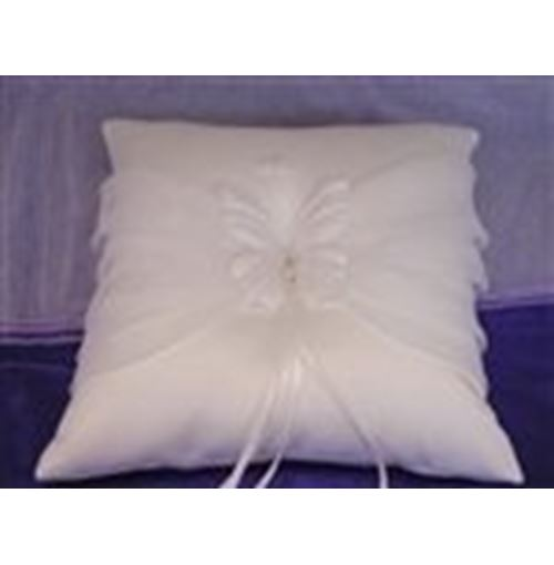 Ring pillow butterfly white