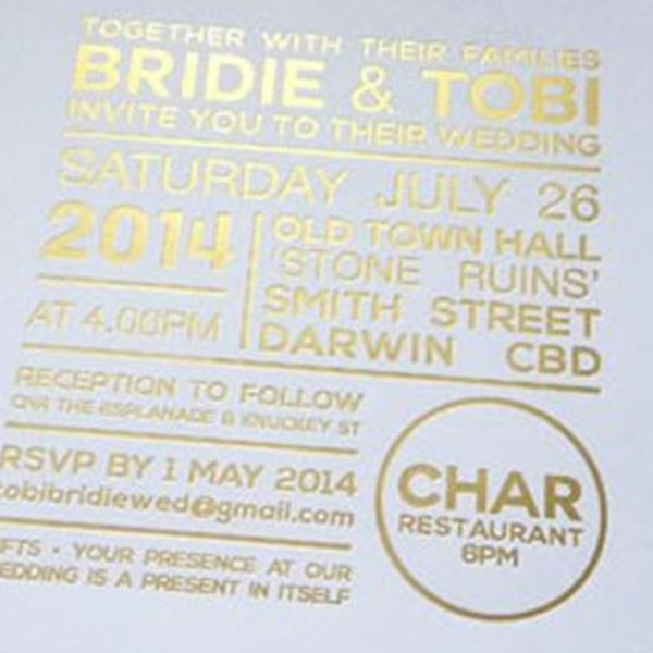 Wedding Invitations-The Print Fairy